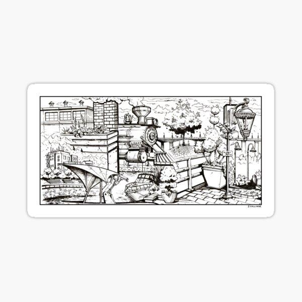 Vancouver Illustration - Yaletown Sticker