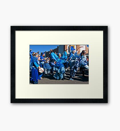 Hands, Heart and Feet: Blue for You Framed Print