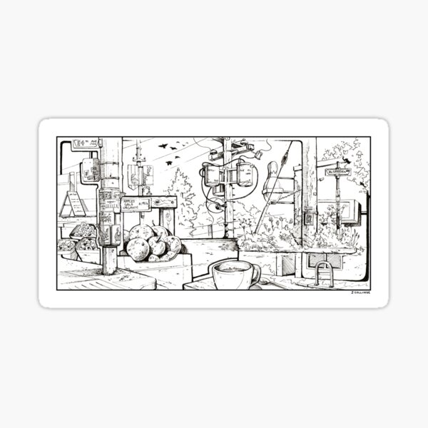 Vancouver Illustration - Commercial Drive Sticker