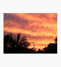 Orange Sunset In Suburbia Photographic Print