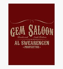 Gem Saloon vintage Photographic Print
