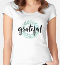 Grateful Women's Fitted Scoop T-Shirt