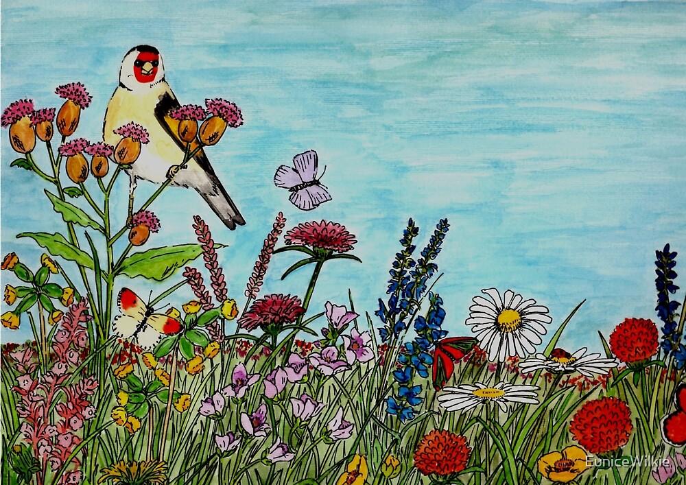 Flower Meadow - Coasters & Blocks by EuniceWilkie