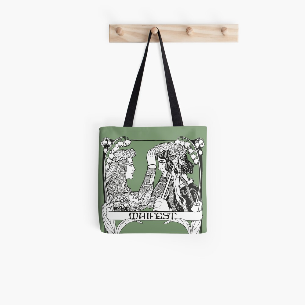 May Day Art Nouveau Tote Bag