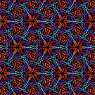 Blue Red  Ankara by cardwellandink