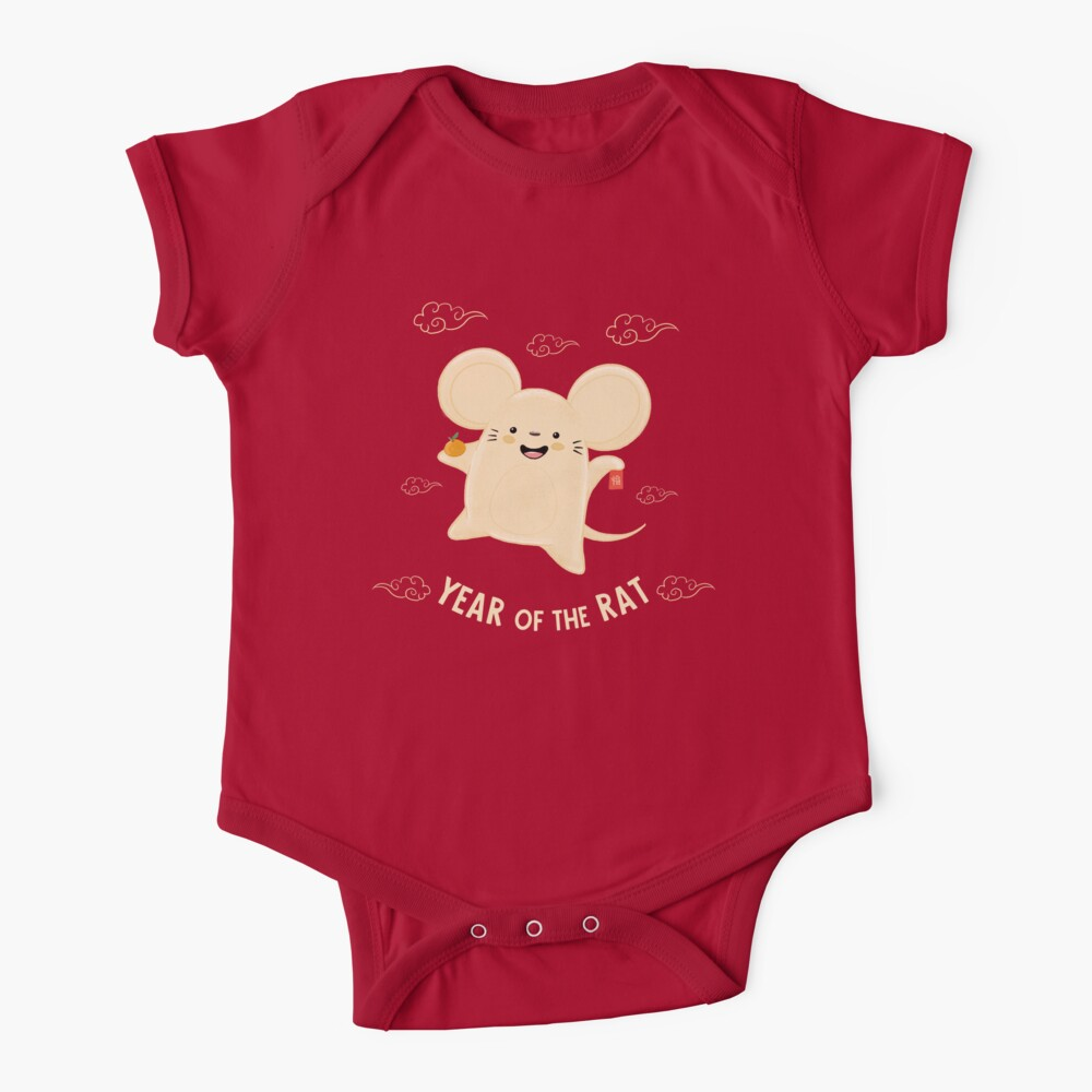 Happy Lunar New Year of the Rat Baby One-Piece