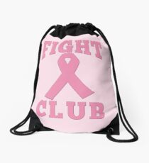 FIGHT CLUB Pink Ribbon for Breast Cancer Drawstring Bag