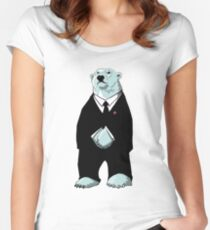 Be Cool Polar Bear. Women's Fitted Scoop T-Shirt