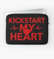 Kickstart My Heart Red Laptop Sleeve