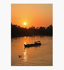 Sunset in the Delta Photographic Print