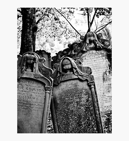 Leaning Graves Photographic Print