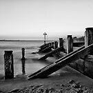 Seaton Sluice Groyn by Philip  Whittaker