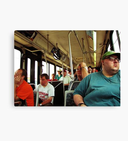 A Day On The Bus Canvas Print