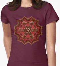 Aum Mandala - Goa Psytrance inspired Womens Fitted T-Shirt