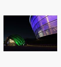 Glasgow Clyde Auditorium and The SSE Hydro at Night Photographic Print
