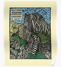 Half Dome Water Color Poster