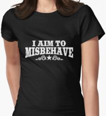 I Aim to Misbehave (White) Women's Fitted T-Shirt
