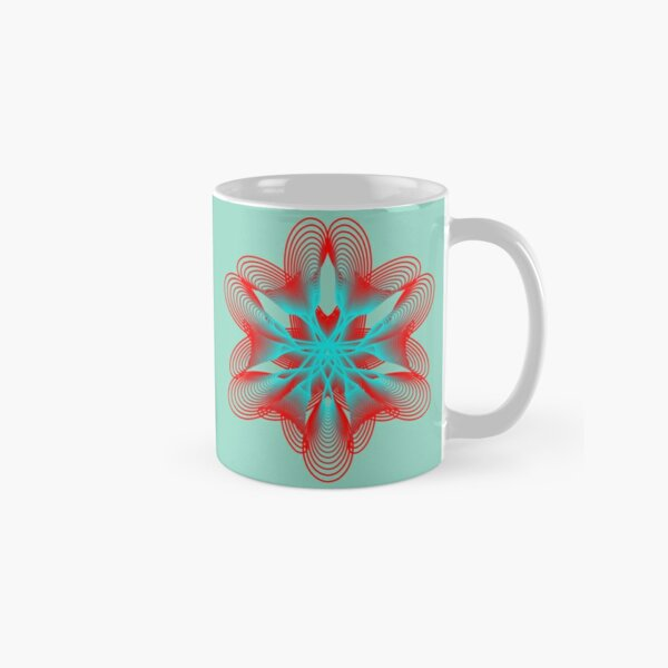 Spirograph with Red and Blue Classic Mug