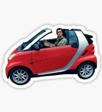 adam driver in a small car Sticker