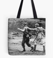 Rounding up the prisoners Tote Bag