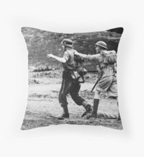 Rounding up the prisoners Throw Pillow