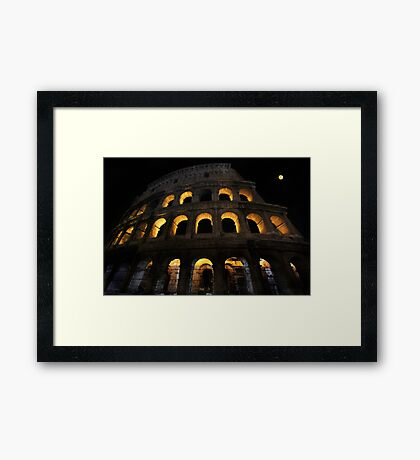 Colosseum at Night Framed Print