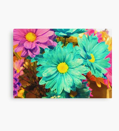 Rainbow of flowers © Canvas Print