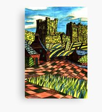 117 - BAMBURGH DESIGN - DAVE EDWARDS - WATERCOLOUR - SEP 2003 Canvas Print