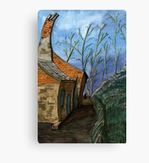 119 - DURHAM VIEW - 1 - DAVE EDWARDS - WATERCOLOUR - SEP 2003 Canvas Print