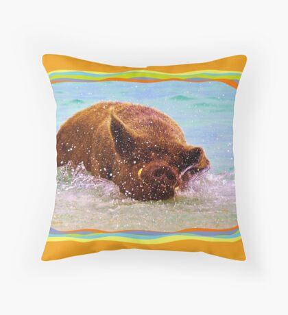 Groovy Wilbur Throw Pillow