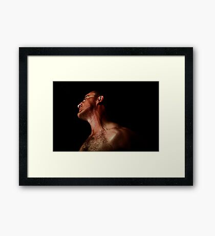 Its hard letting go! SP No 1 of 5. Framed Print