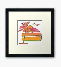 80's Sunset Framed Print
