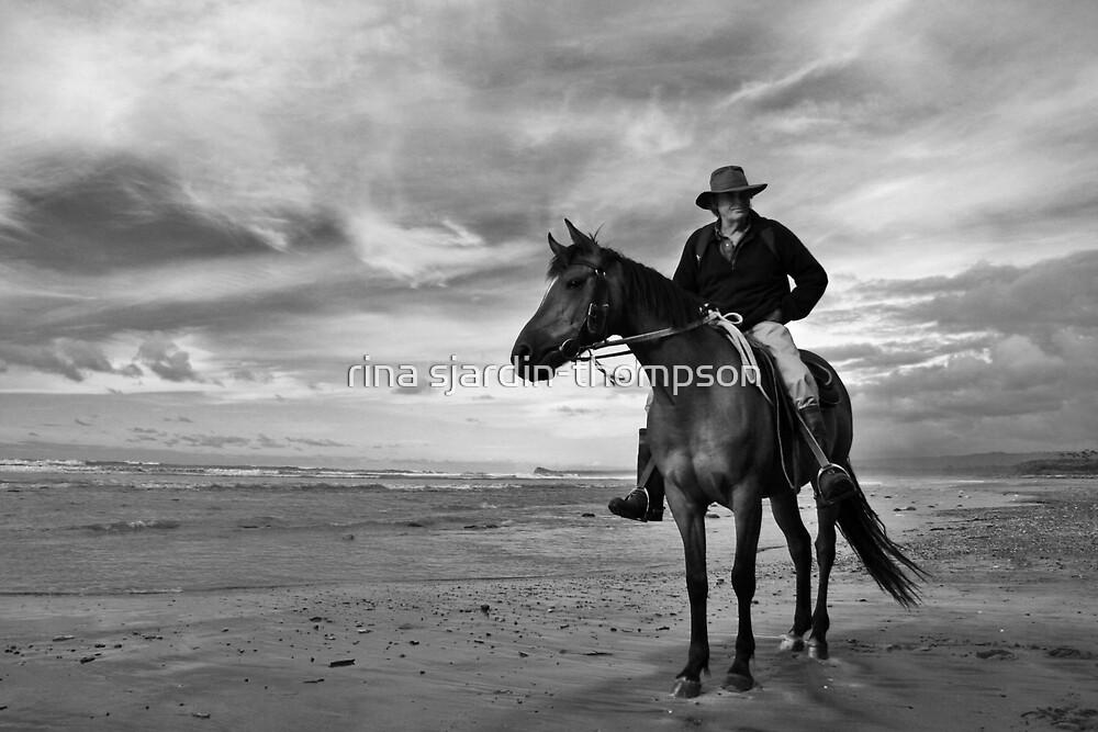 hunts beach, south westland, nz by rina sjardin-thompson