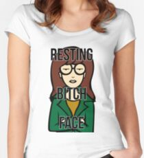 Daria's Resting Bitch Face Women's Fitted Scoop T-Shirt