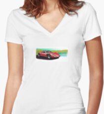 Alfa Romeo 33 Stradale Women's Fitted V-Neck T-Shirt