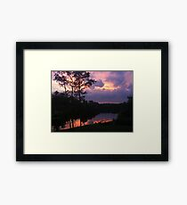 Reflections of a Sunset Framed Print