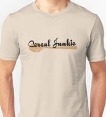 Cereal Junkie - Black Text Unisex T-Shirt