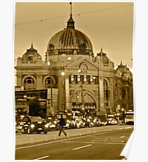 Flinders Street Rush Hour Poster