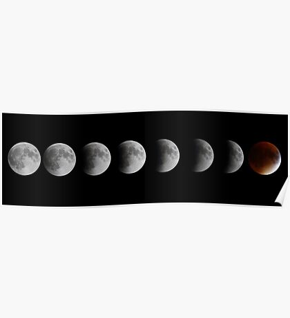 Lunar eclipse and Blood moon Poster