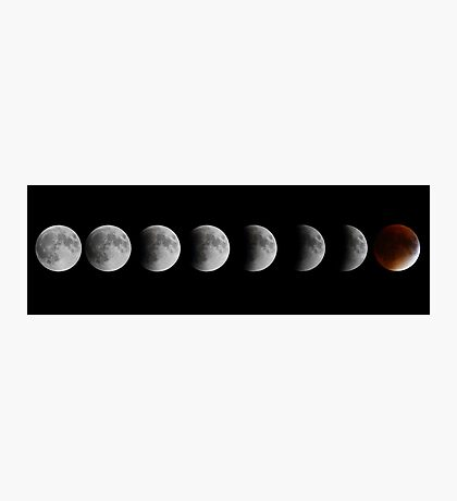 Lunar eclipse and Blood moon Photographic Print