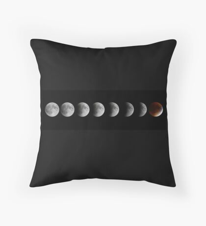 Lunar eclipse and Blood moon Throw Pillow
