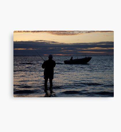 seascapes #269, just fishin' Canvas Print