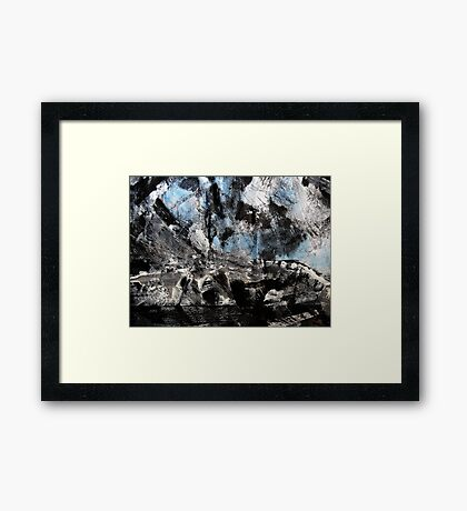 storm brewing.... out over the cape Framed Print