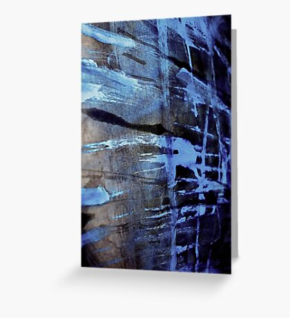 dreaming deep water.... blue ice wall Greeting Card
