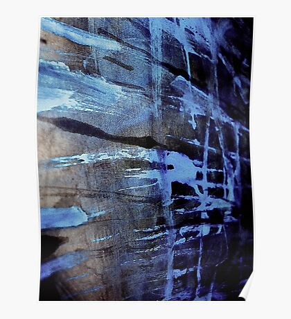 dreaming deep water.... blue ice wall Poster