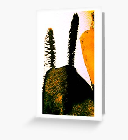 scorched peak....charred cactus  Greeting Card