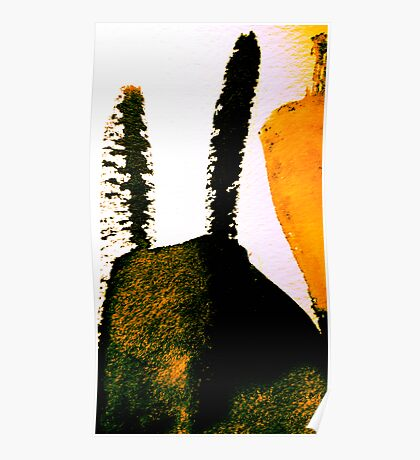 scorched peak....charred cactus  Poster