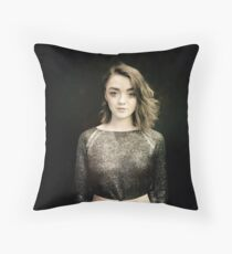 Maisie Williams Black Throw Pillow