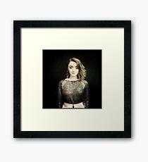 Maisie Williams Black Framed Print
