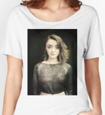 Maisie Williams Black Women's Relaxed Fit T-Shirt